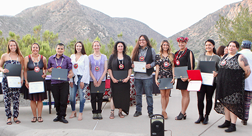 Graduates at the 2018 American Indian Graduation Ceremony