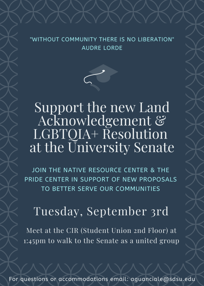 Support the new Land Acknowledgement & LGBTQIA+ Resolution