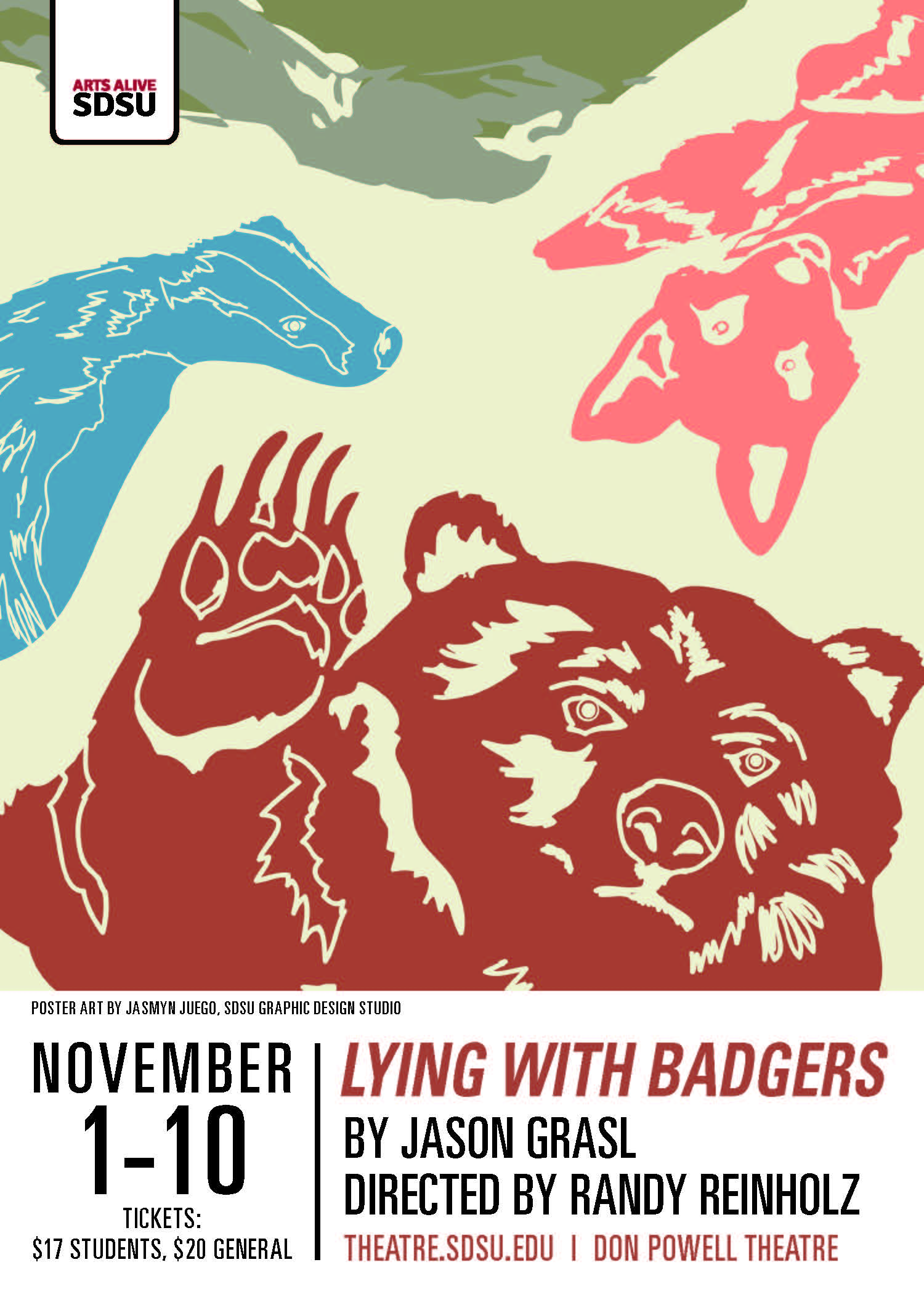 Lying with Badgers - Production of the SDSU Experimental Theatre