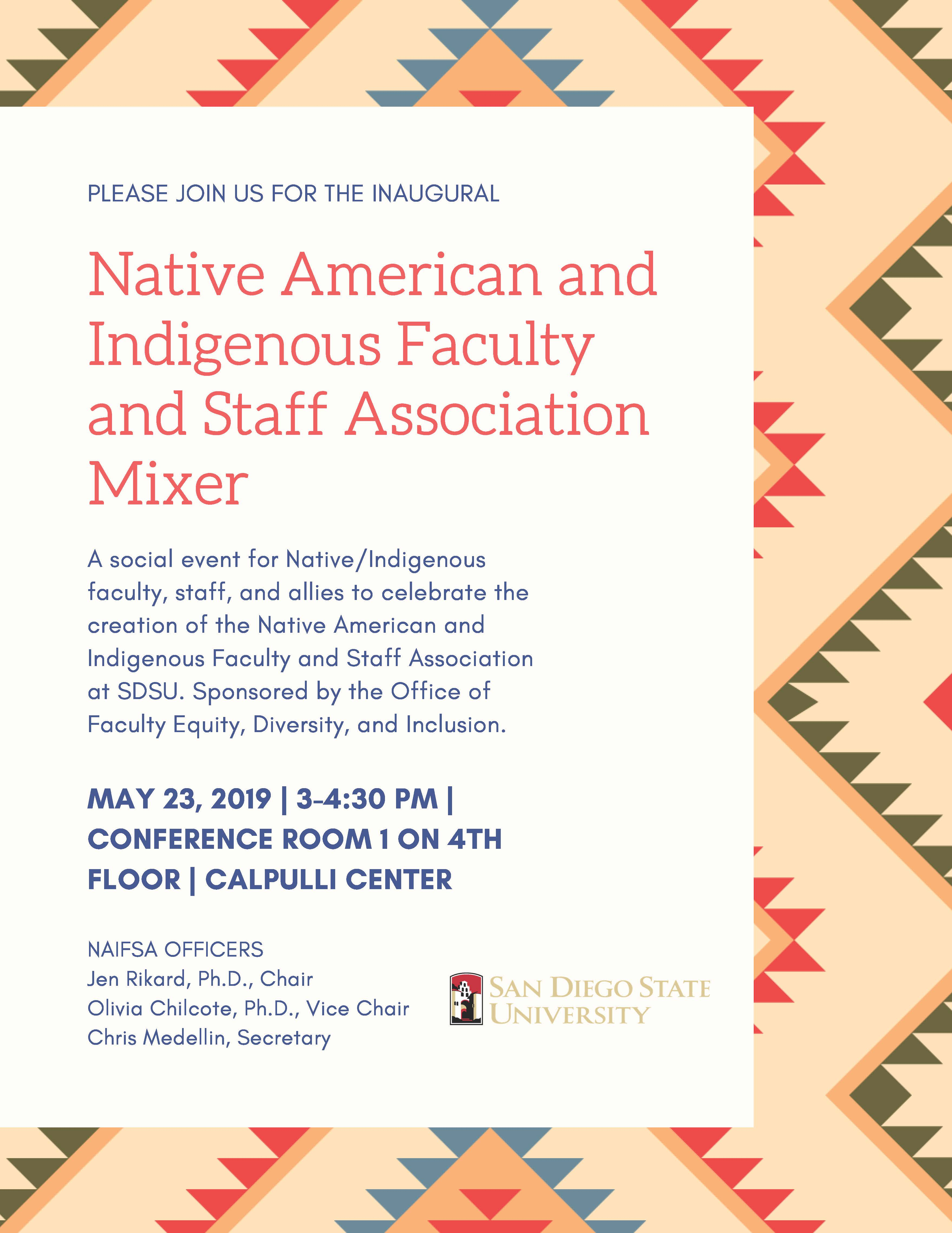 Native American and Indigenous Faculty and Staff Association Mixer