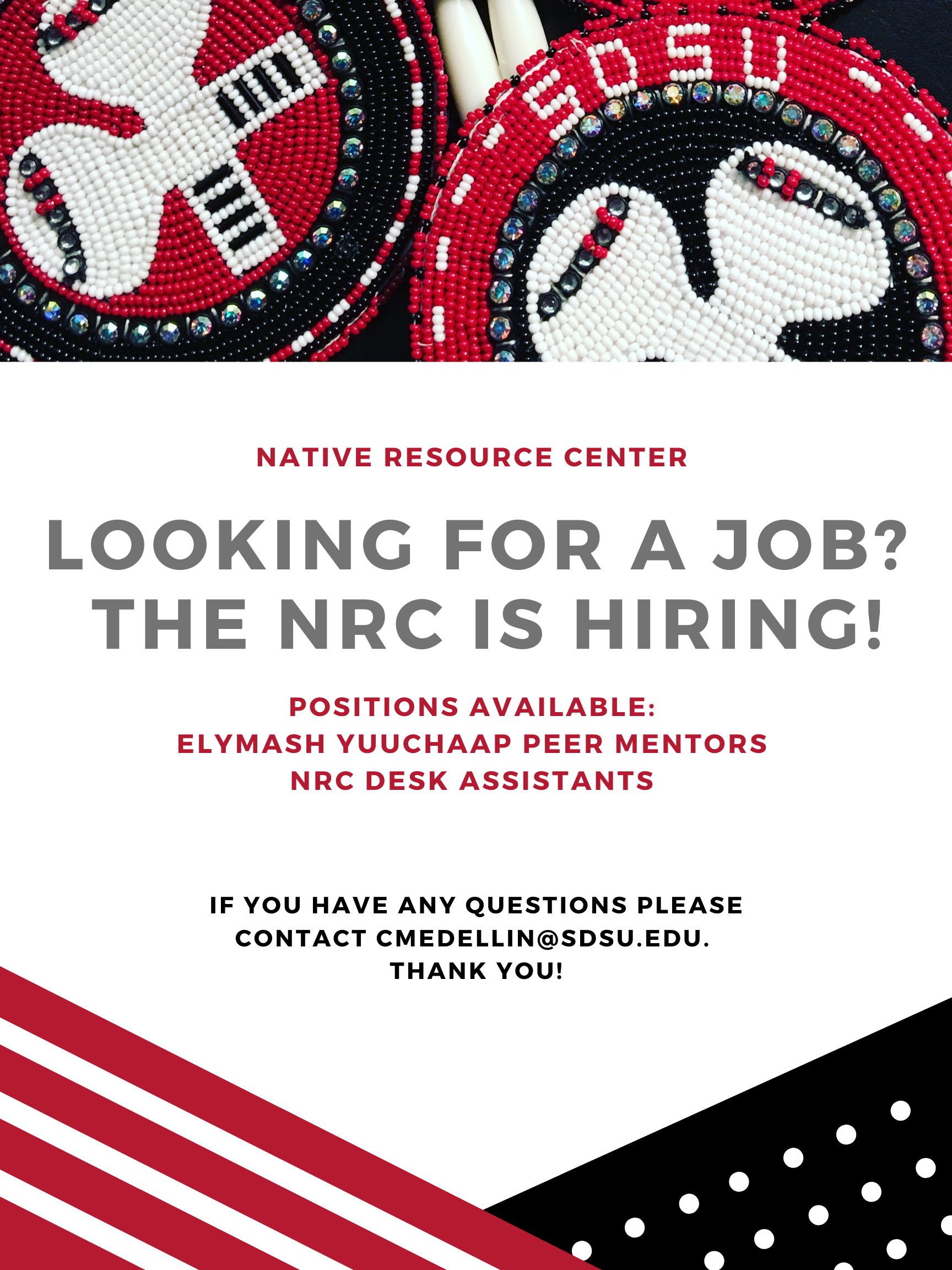 SDSU Native Resource Center hiring Peer Mentors and Desk Assistants