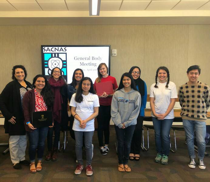 SACNAS group at last meeting