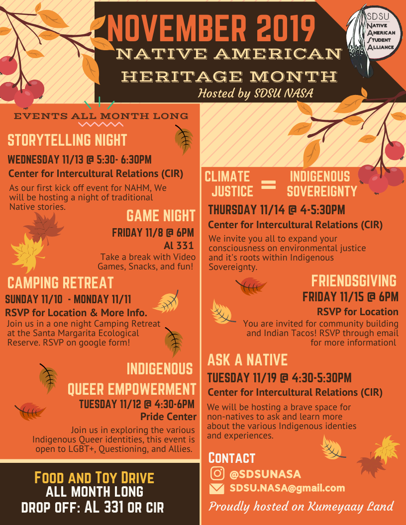 NASA Native American Heritage Month Events 2019